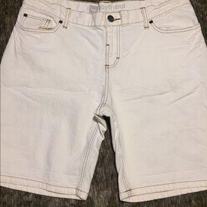Mossimo Brand, Cream Colored, Jean Shorts